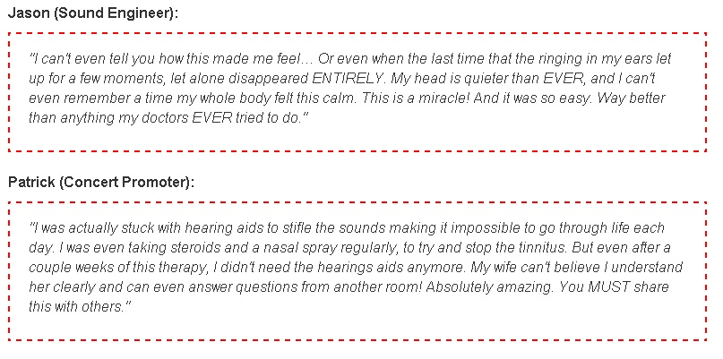 Tinnitus Terminator Testimonials
