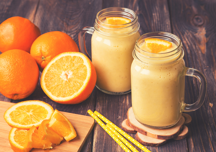 orange juice and healthy thinking