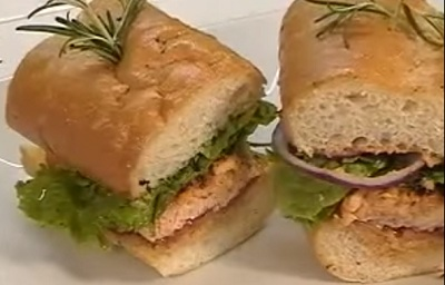 Pescetarian Diet Recipe - Blackened Salmon Sandwich