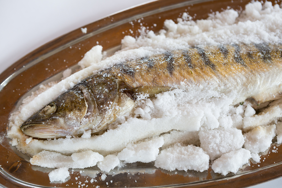 salt and fish (pescetarian diet)