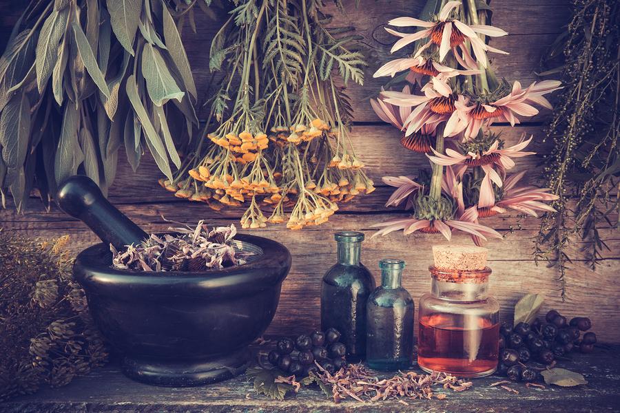 Mixture of healing herbs for nail fungus
