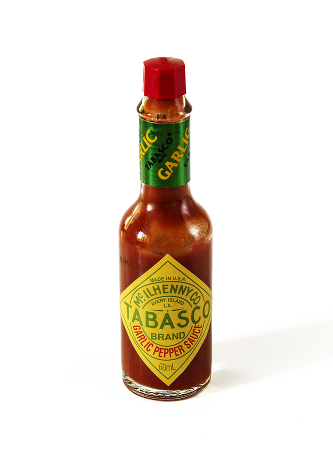 Tabasco hot sauce for treating a sore throat
