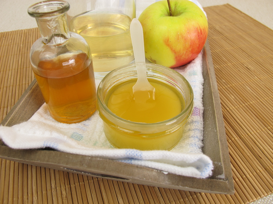 apple cider vinegar with honey to cure acne