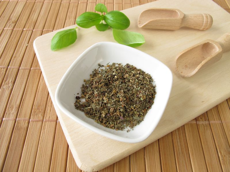 dried basil for infusion as home remedy for acid reflux
