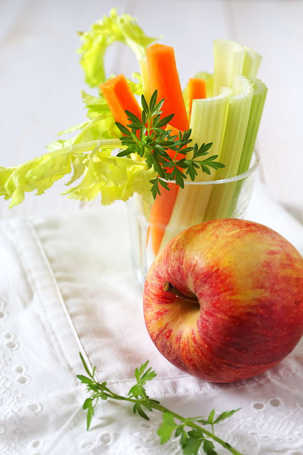 eat carrots celery and apples to get rid of gingivitis