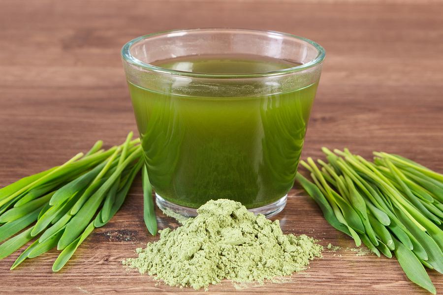 green barley used as sore throat remedy