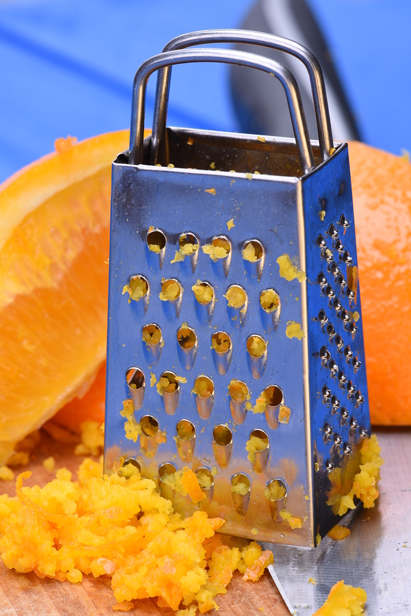 orange peel grated for treating acne at home