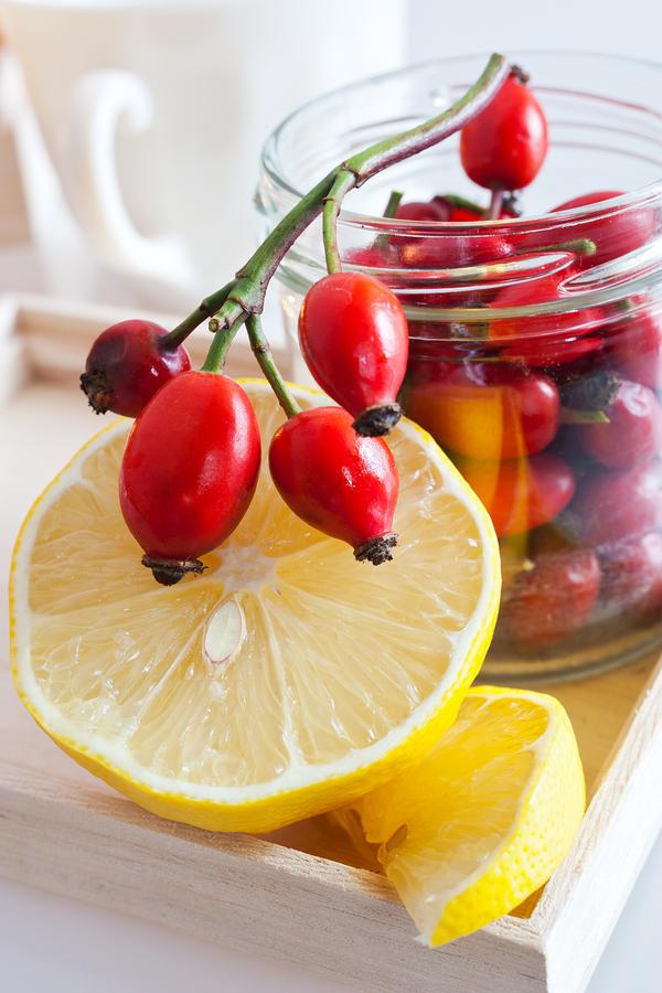 roseship fruit with lemon for nausea