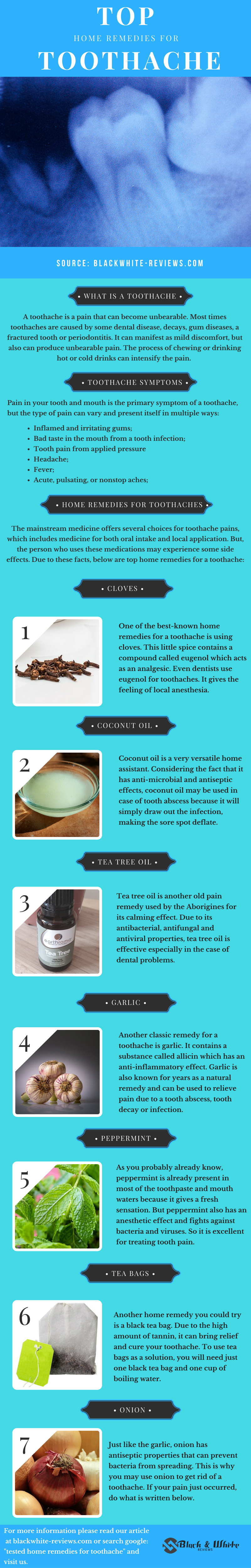 top 10 home remedies for toothache - infographic