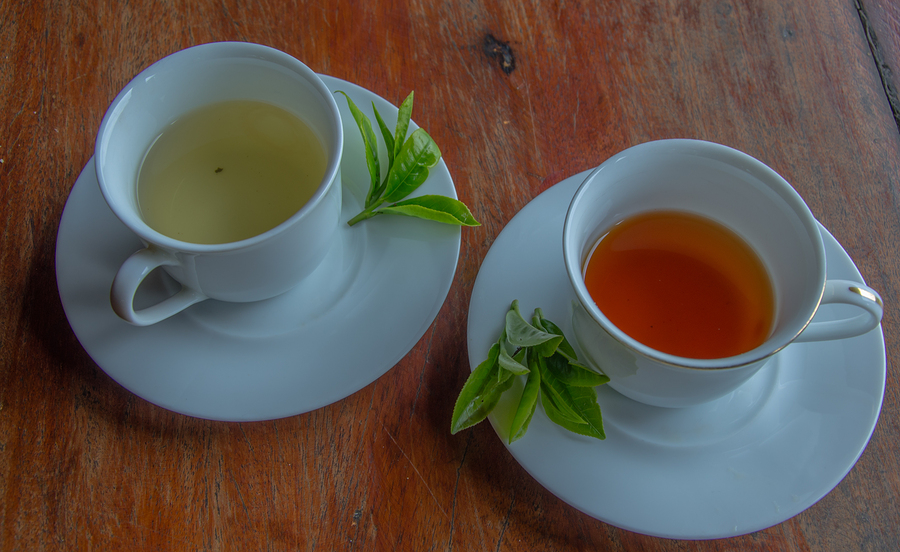 healing vaginal odor with black and green tea