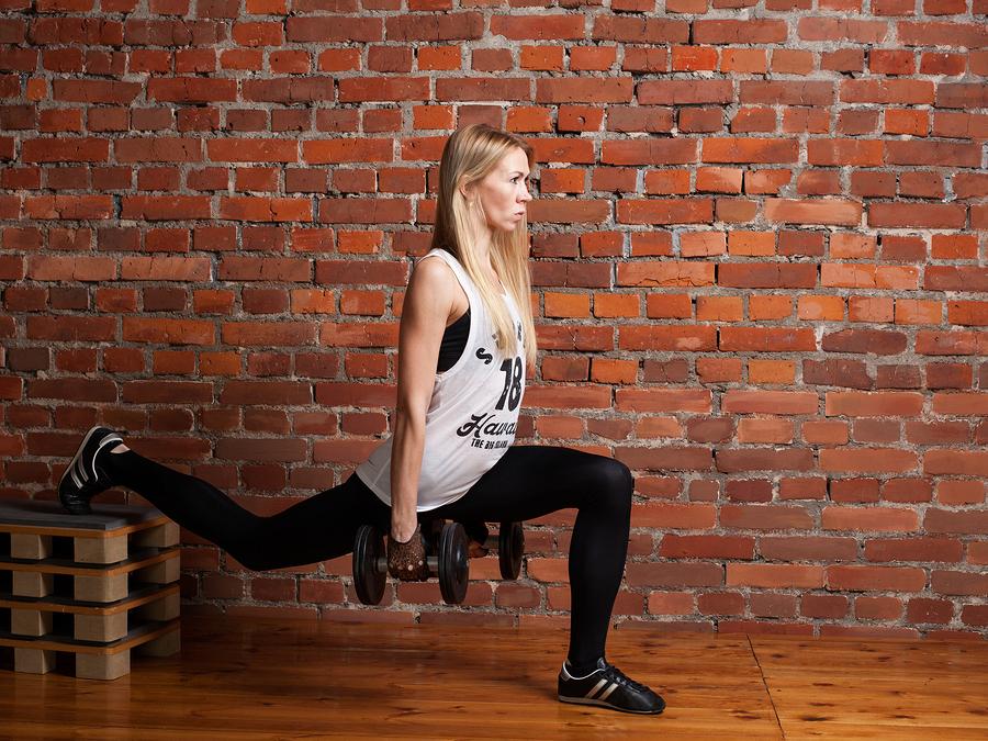 Leg Lift Then Lunge for inner thigh fat- part1