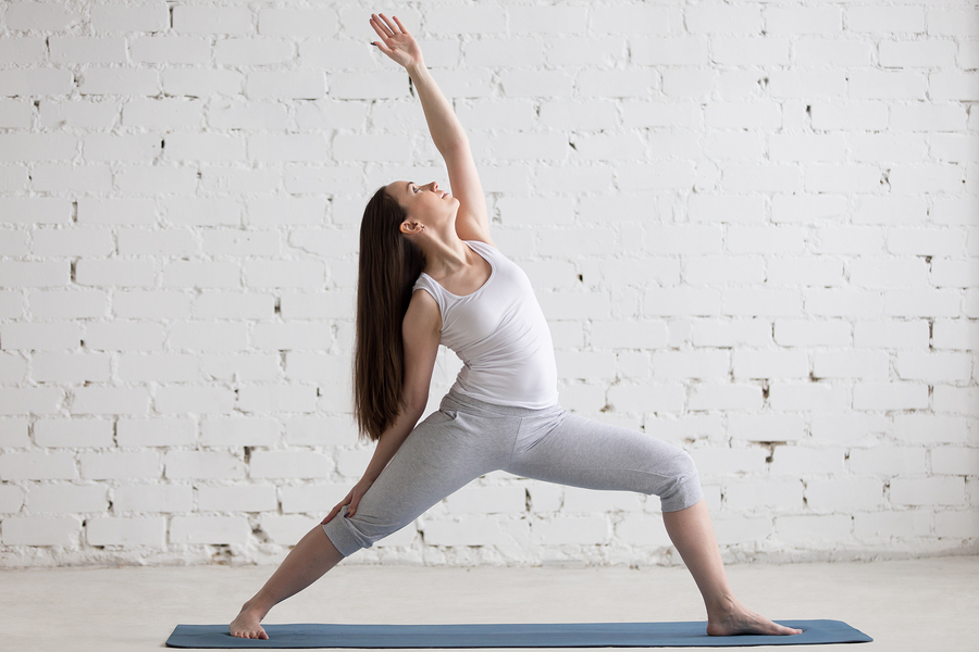 Warrior Pose (Viparita Virabhadrasana) for bunions