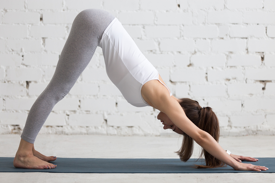 Downward Facing Dog Pose(Adho mukha svanasana) -helping to get rid of bunions