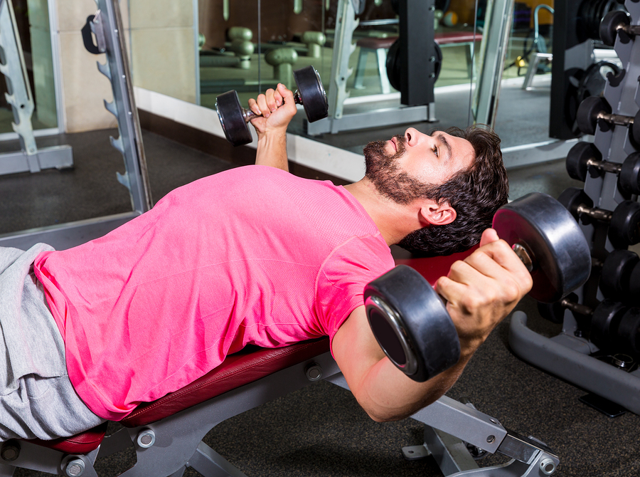 dumbbell flyes on an incline to get rid of armpit fat