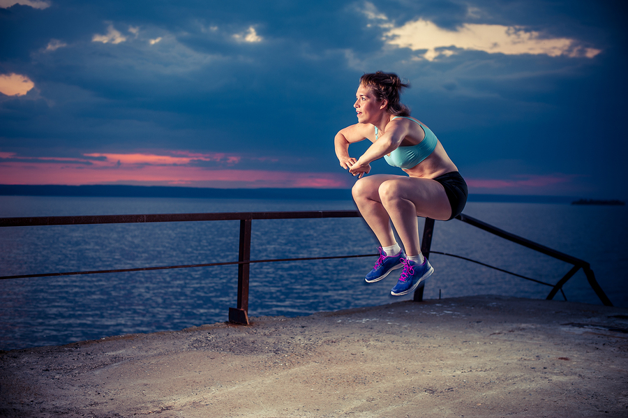 frog rotation jumps to get rid of inner thigh fat