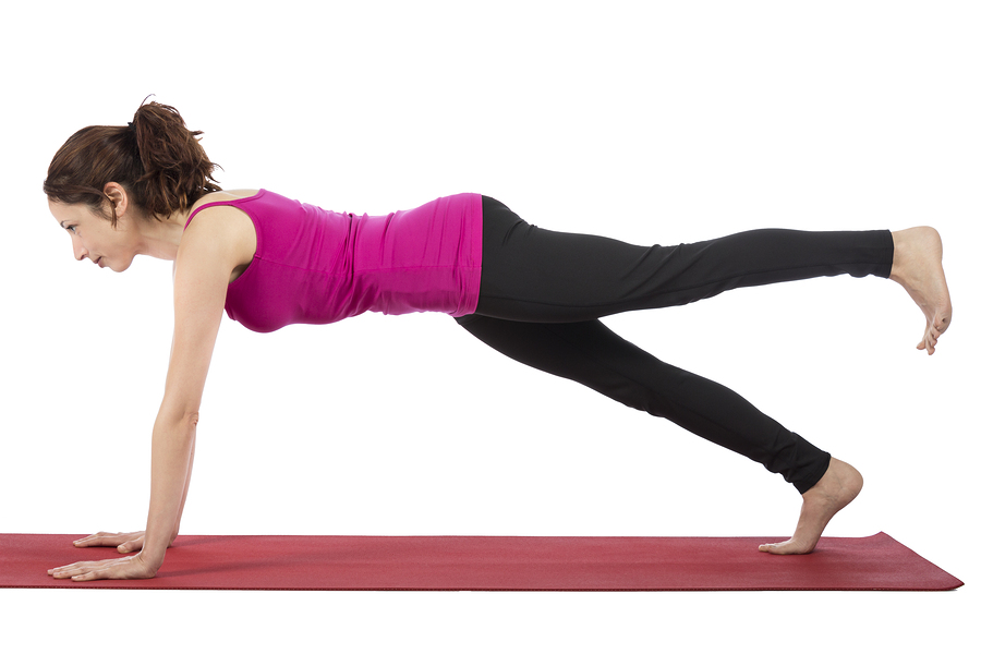plank position exercise for inner thight fat