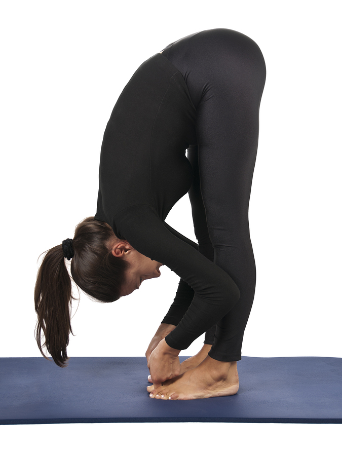 Padangusthasana pose for headaches