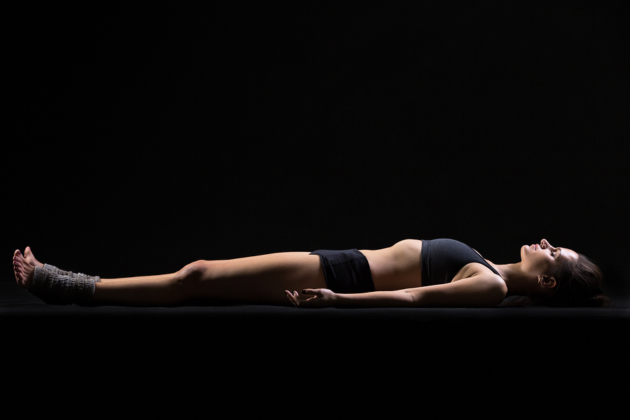 Savasana Corpse or Dead Body Posture to relax and get rid of a headache