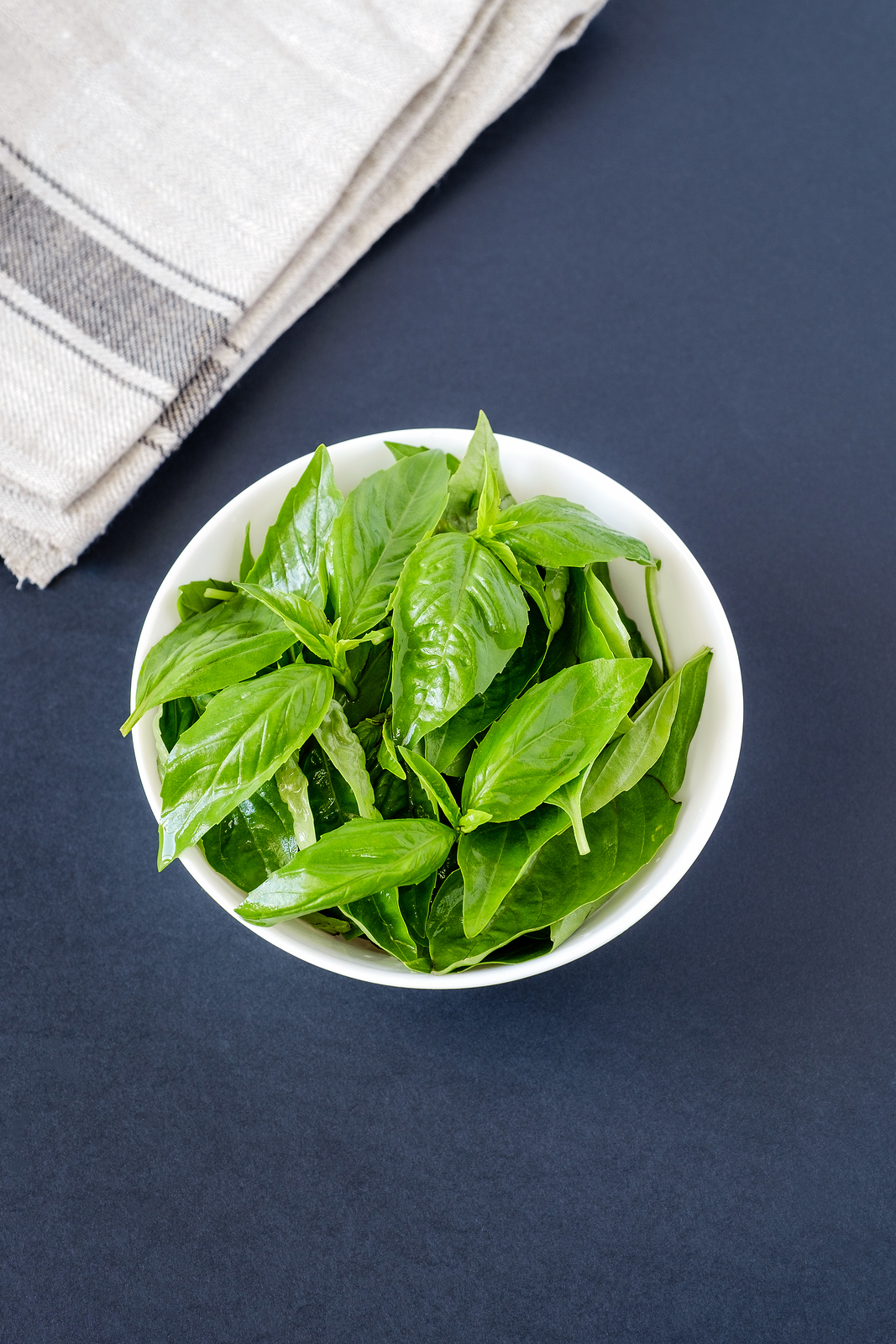 basil leaves used to sooothe an ear infection