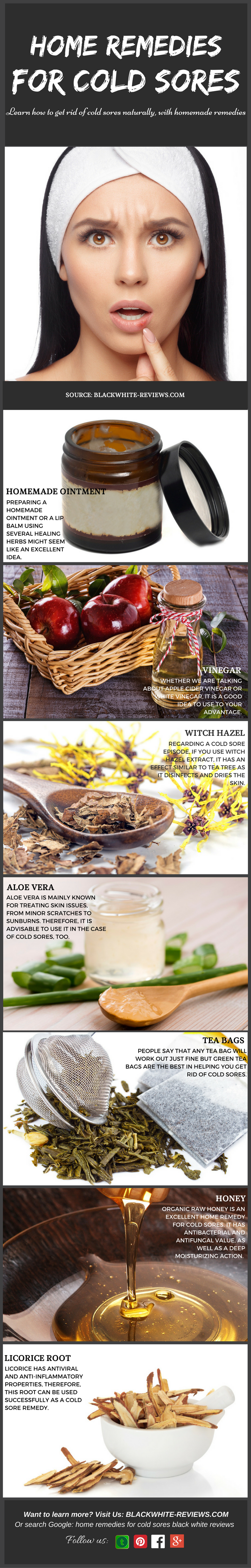 cold sore home remedies -infographic