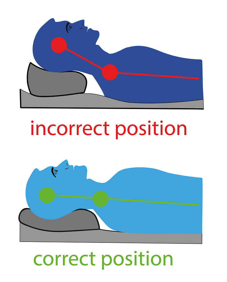 pillow and neck position - headaches