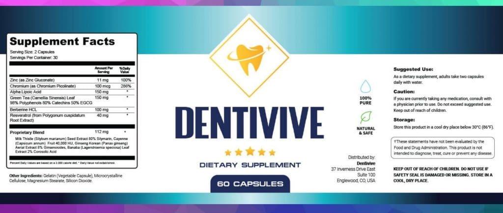 Dentivive Label